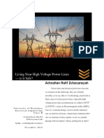 Achnafian R.Z. Essay 2 - Living Near High Voltage Power Lines