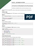 Servlets Database Access