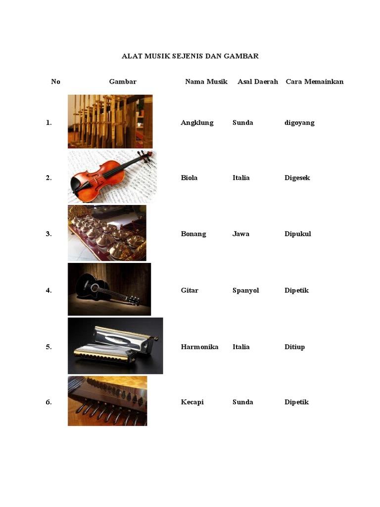 76 Gambar Alat Musik Ansambel