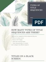 Presentation Title Sequences