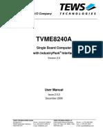 TVME8240A 8400 Manuals