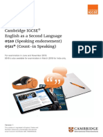 Igcse English Second Language-2019-Syllabus