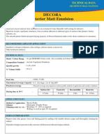 Decora Interior Matt Emulsion
