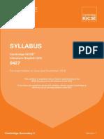 Syllabus Igcse English Literarure