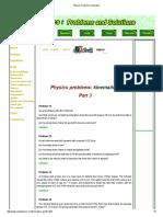 Physics Problems2_ Kinematics