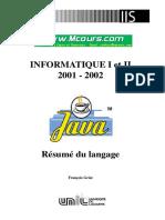 Resume Du Langage Java