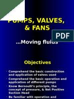 Lesson 04 - Pumps, Valves, Fans