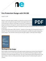 Fire Protection Design With FM 200