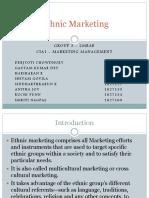 Ethnic Marketing - Group 3 -CIA1 - Presentation