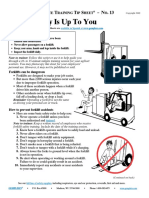 Forklift Safety is Up to You