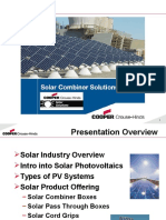 Solar Combiner Box Training