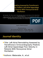 LA Remodeling Assessed by TTE Predicts LAA-FV in PAF