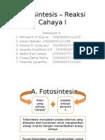 Fotosintesis – Reaksi Cahaya I