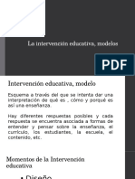 La Intervencion Educativa