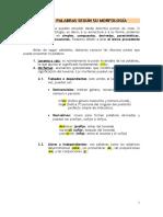 Tipos de Palabras (Simples, Compuestas...)