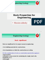 Enginnering Rock Properties