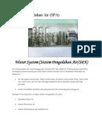 Sistem Pengolahan Air