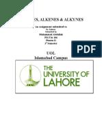 Alkanes, Alkenes, Alkynes