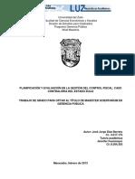 Planificion y evaluacion de la gestion