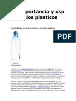 Importancia de Los Plasticos