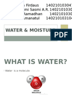 Water and Moisture