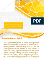 Regulation of Gmo