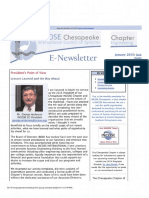 2015 INCOSE Chesapeake Chapter Newsletters
