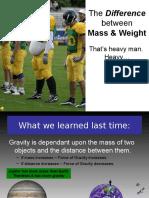 mass v weight