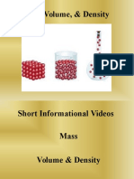 powerpoint mass density and volume