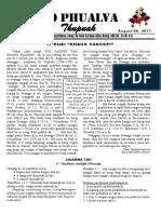 Zo Phualva Thupuak - Volume 01, Issue 09
