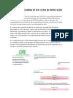 Estructura y Análisis de Un Recibo de Facturación en Tarifa HM