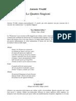 Vivaldi, Le Quattro Stagioni