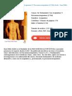 Cancer Su Tratamiento Con Acupuntura Juan Pablo Molto Ripoll Id89548