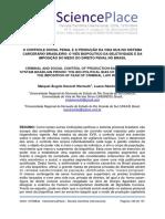O CONTROLE SOCIAL PENAL E A PRODUÇÃO DA VIDA NUA NO SISTEMA CARCERÁRIO BRASILEIRO