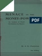 149054781 Chesterton Arthur Kenneth Menace of the Money Power
