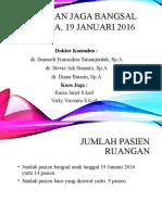 Laporan Jaga Bangsal 19 Januari 2016.Leng
