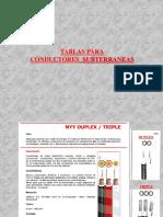 TABLAS Para Conductores Subterraneos