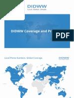 DIDWW Pricelist October 2016
