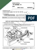 Devoir de Synthèse N°1 - Génie mécanique systeme de fabrication de couvercles - Bac Technique (2014-2015) Mr Lotfi