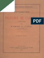 Contribución Al Folklore de Carahue