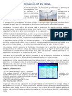 Energía Eolica en Tacna