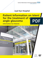 Istent and the Treatment of Open Angle Glaucoma
