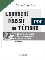 Comment Réussir Un Mémoire
