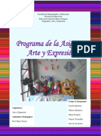 """PROGRAMA DE LA CATEDRA """"ARTE Y EXPRESION"""" SEMESTRE A-2016"""
