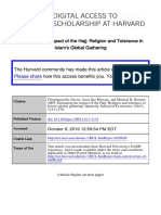 Estimating the Impact of the Hajj Religion and Tolerance in Islams Global Gathering