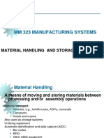 MM 323 MAN SYS 2016-17 FALL 1 Introduction Material Handling Systems