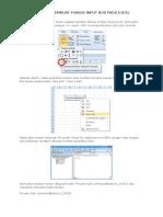 06. Cara Membuat Fungsi Input Box Pada Excel