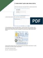 07. Membuat Form Input Data Vba Pada Excel