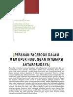 Peranan Facebook Dalam Memupuk Hubungan Interaksi Antara Budaya