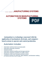 MM 323 MAN SYS 2016-17 FALL 4 Automation in Manufacturing Systems